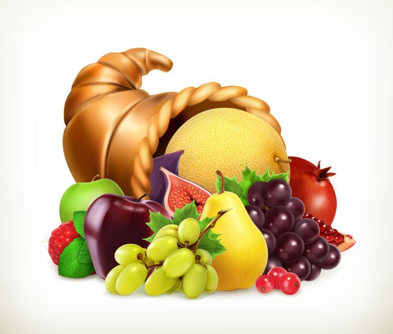 感恩节的新鲜水果插图