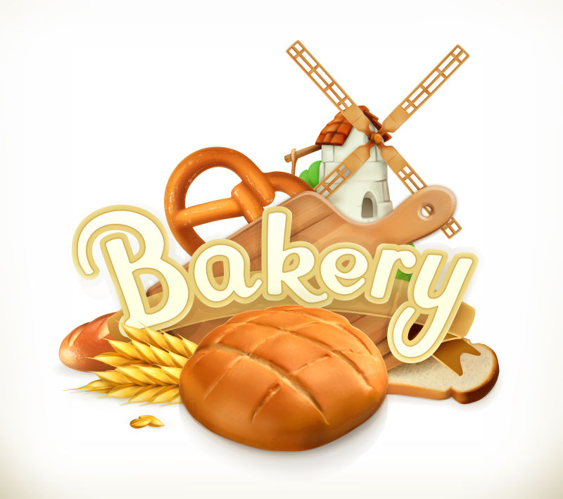 矢量的面包插图设计