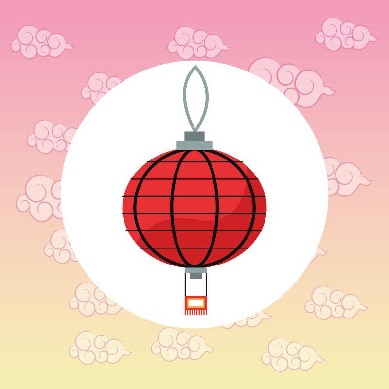 矢量的日本红灯笼插图