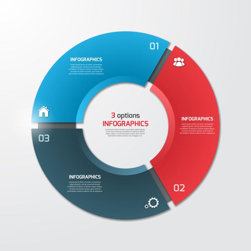 矢量商业循环图表设计
