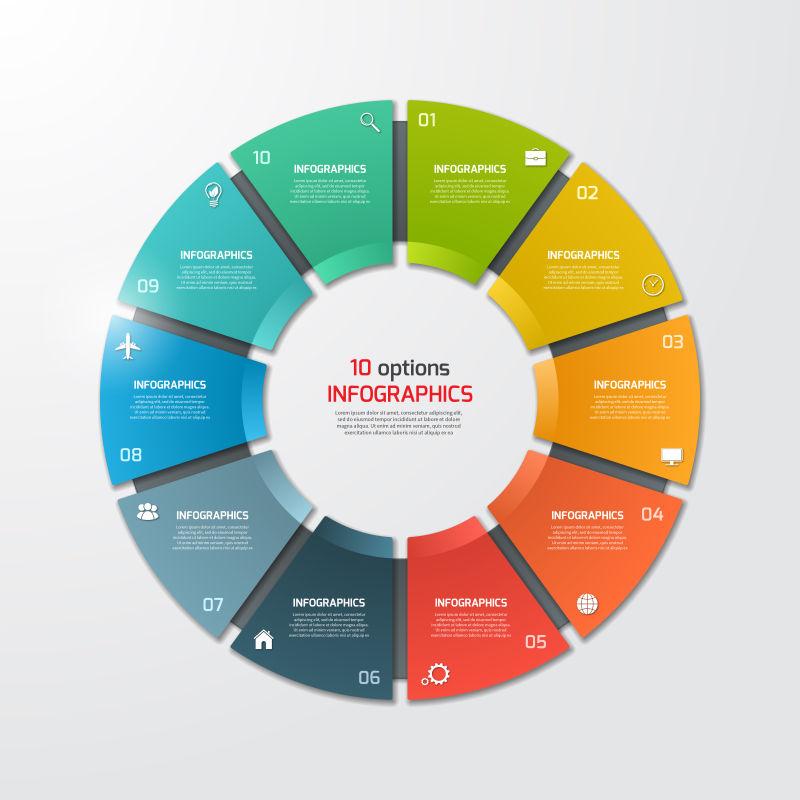 商业循环矢量图表设计