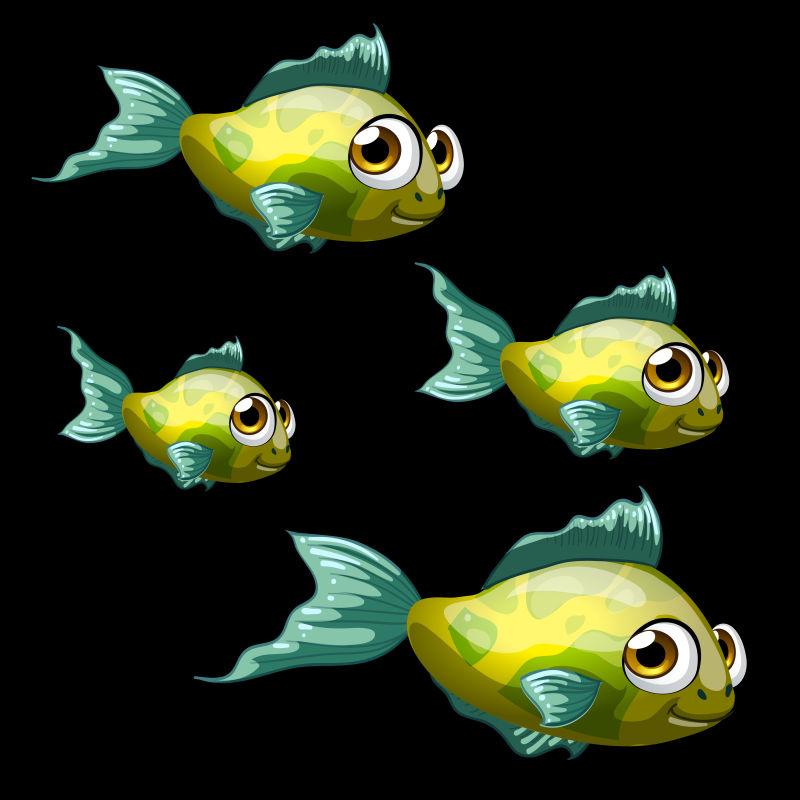 鱼缸背景矢量图_矢量卡通鱼图片_抽象矢量各种热带鱼类的鱼缸插图素材_高清图片 ...