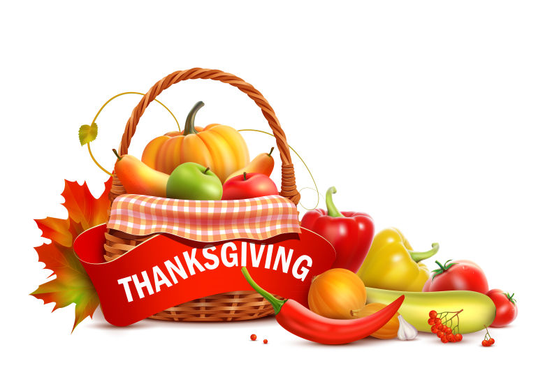 创意矢量感恩节概念的插图设计