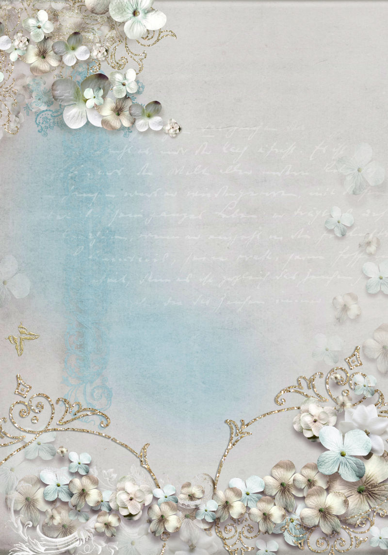 精致的花朵效果信纸