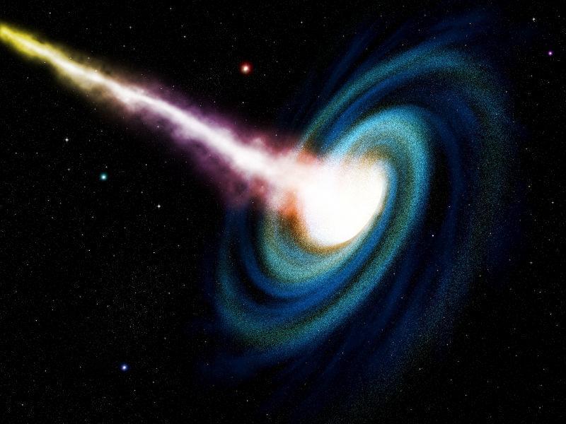 计算机生成黑洞吞咽星系
