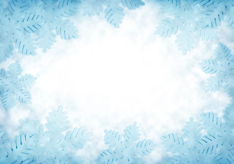 蓝色背景与雪花