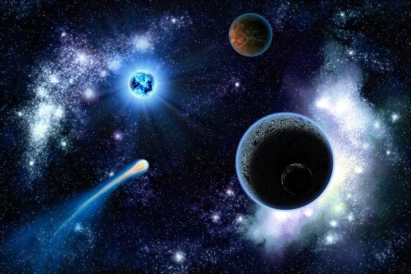 银河系中的两颗行星太阳系