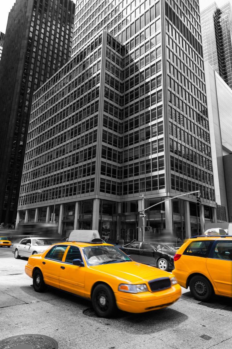 曼哈顿市的黄色出租车
