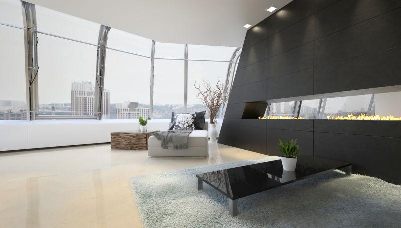 现代客厅室内设计阁楼