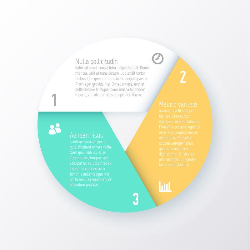 创意的圆形信息图表矢量设计