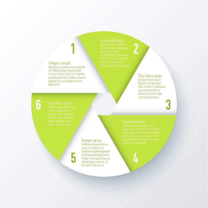 绿色圆形信息图矢量设计