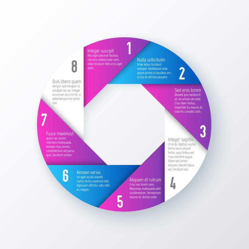 矢量的双色圆形信息图案设计