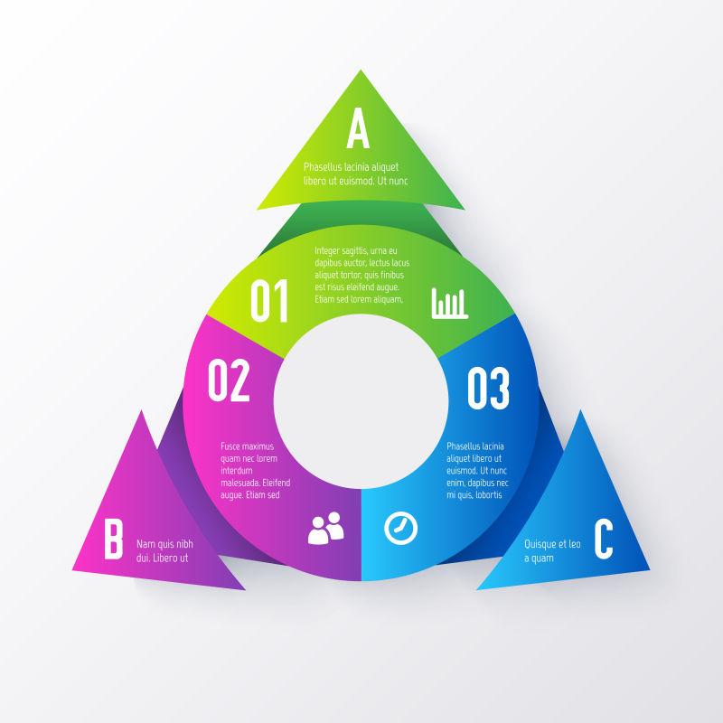 矢量的三角形信息图表设计