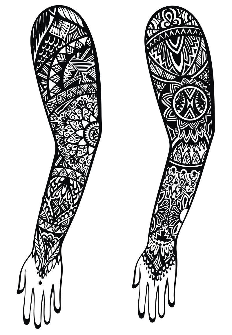 毛利纹身设计图片素材-工资纹身机械矢量设计山东矢量设计风格图片