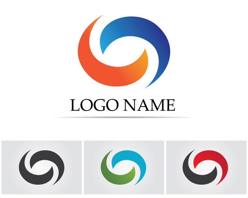 四色金融标识创意矢量设计