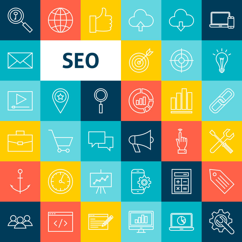 矢量搜索引擎优化图标设计