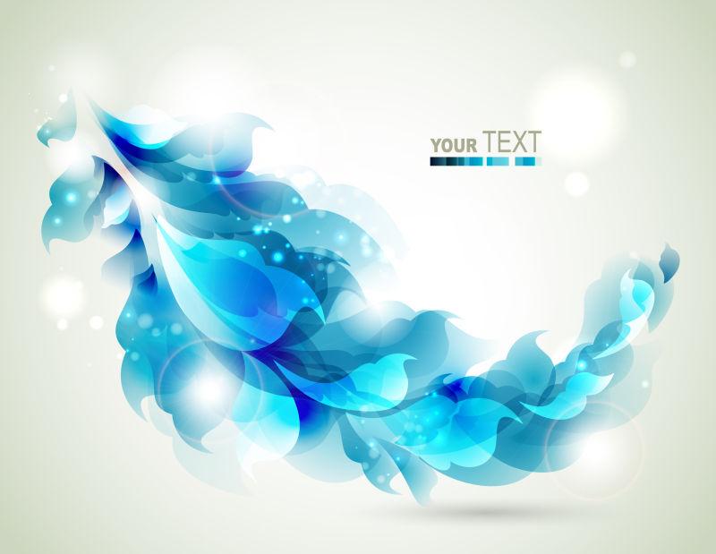 矢量的蓝色花卉图案背景设计