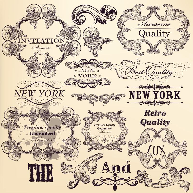 矢量的传统艺术装饰设计