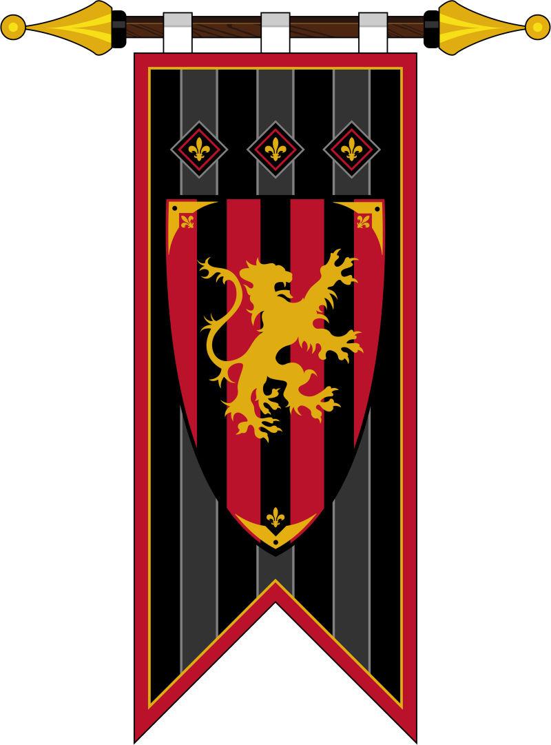 黑山国家纺织品标签上的旗帜插图