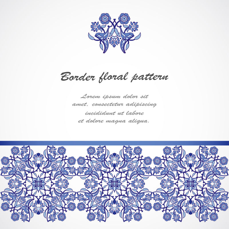 创意矢量蓝色装饰花纹背景设计