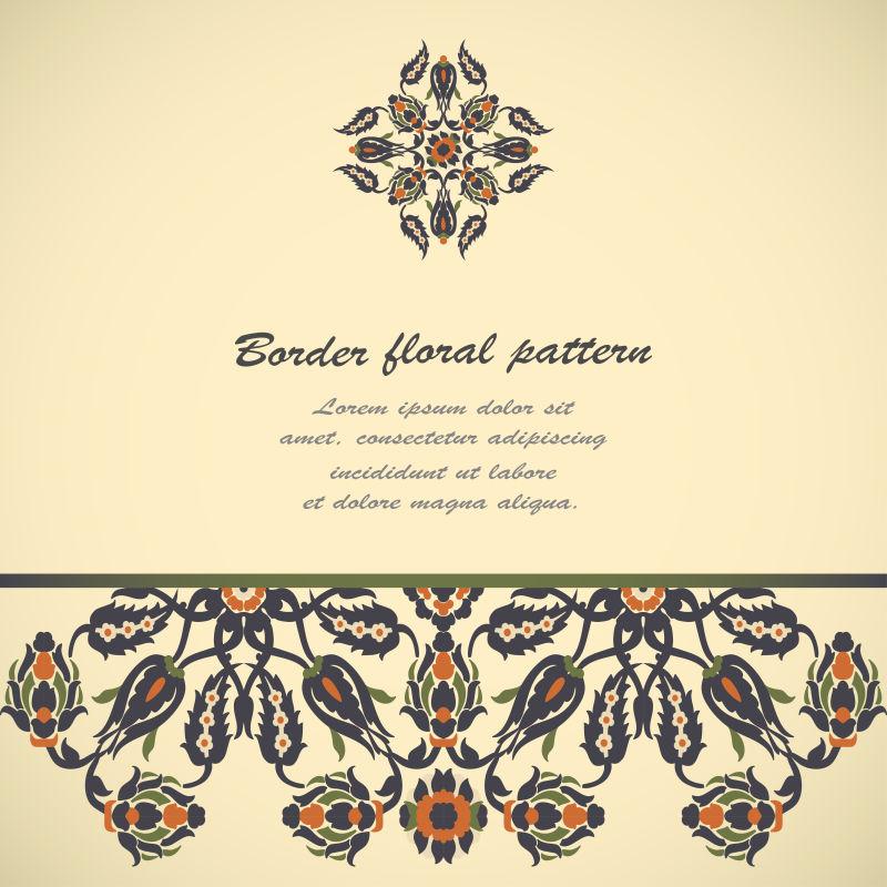创意矢量精美古典花卉元素背景设计