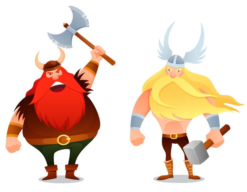 矢量神话人物形象插图