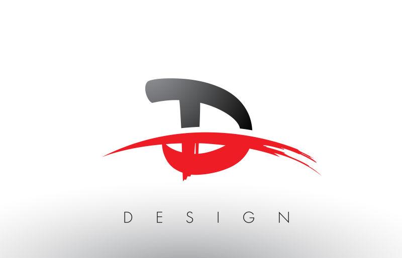 黑红色原理B字母矢量设计施工总平面设计标志图片