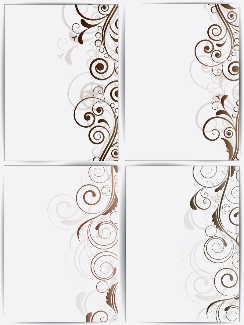 创意矢量现代装饰花纹元素的横幅设计