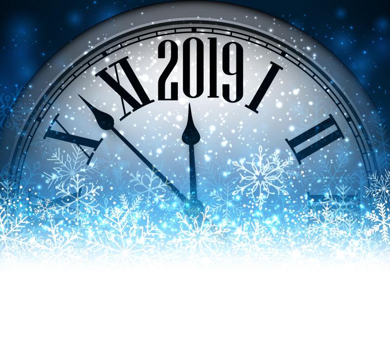 矢量冬季2019新年设计