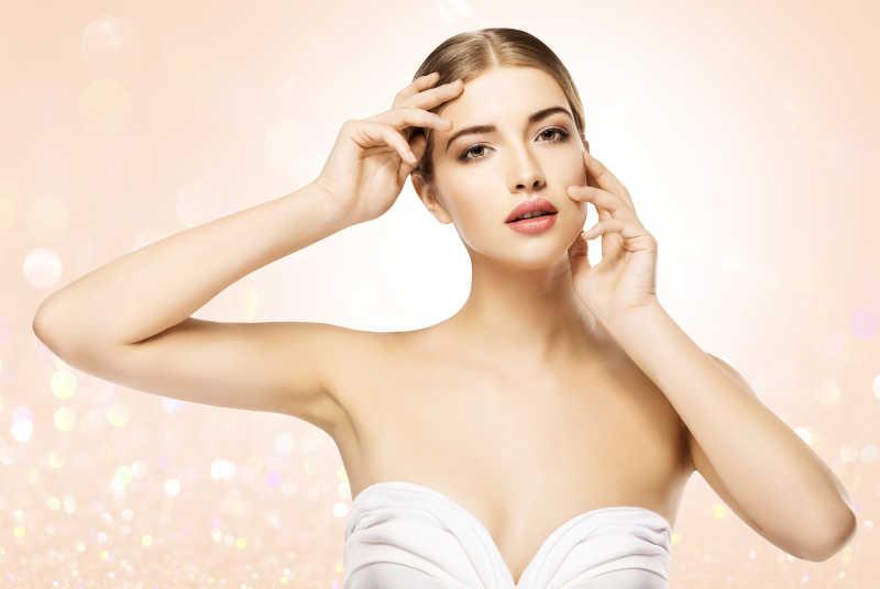 性感白色长裙美女模特图片素材_蝴蝶夫人白色美女穿着