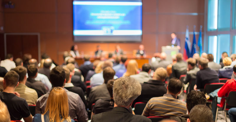 商务会议与展示-会场听众