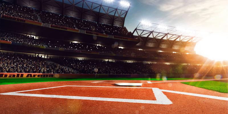 阳光下的职业棒球大竞技场