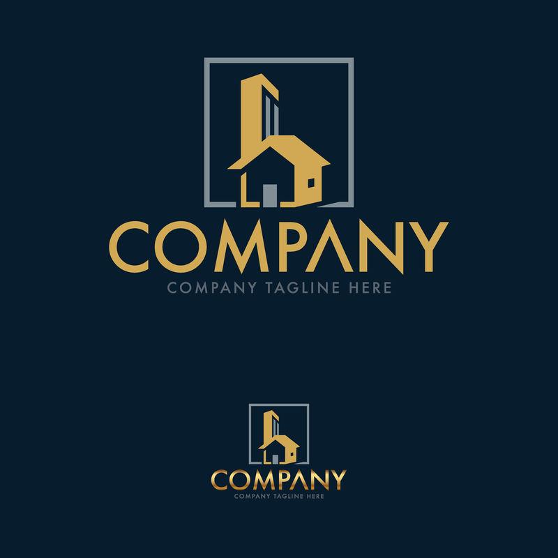 字母B-建筑和房地产标志模板