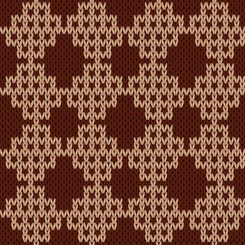 棕色和可可色针织无缝装饰图案