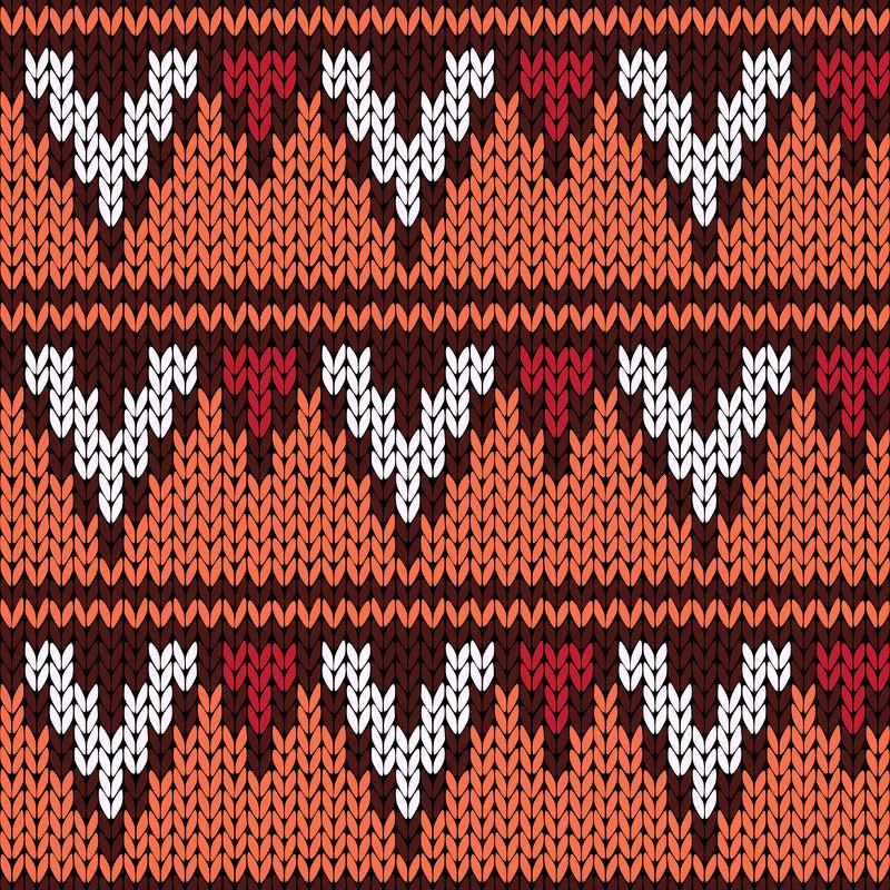 针织几何色花纹华丽无缝图案
