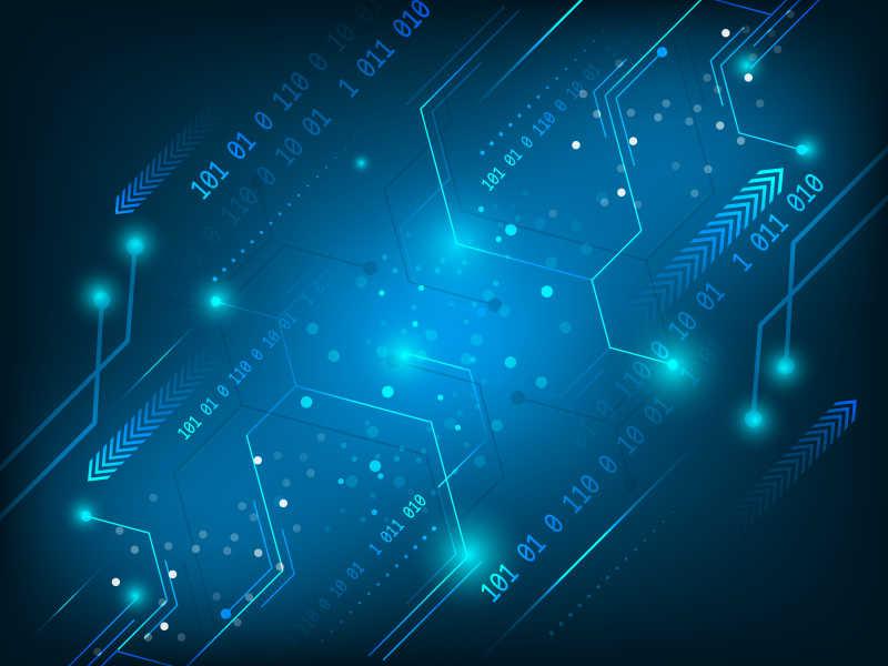 未来科技感的电路元件矢量背景