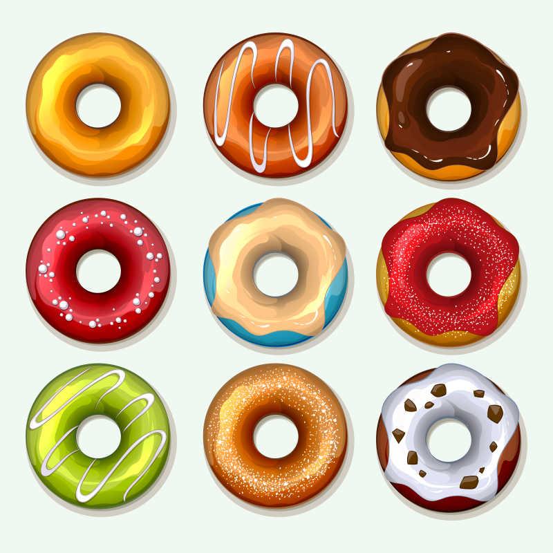 矢量甜甜圈图标