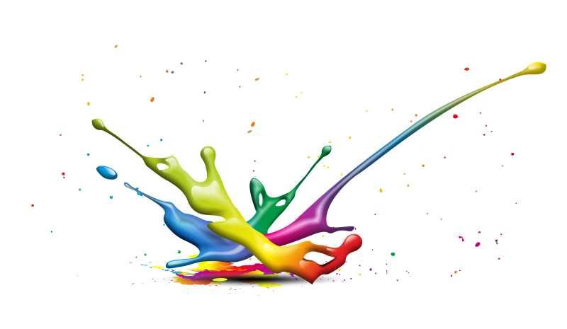 彩色油漆矢量背景
