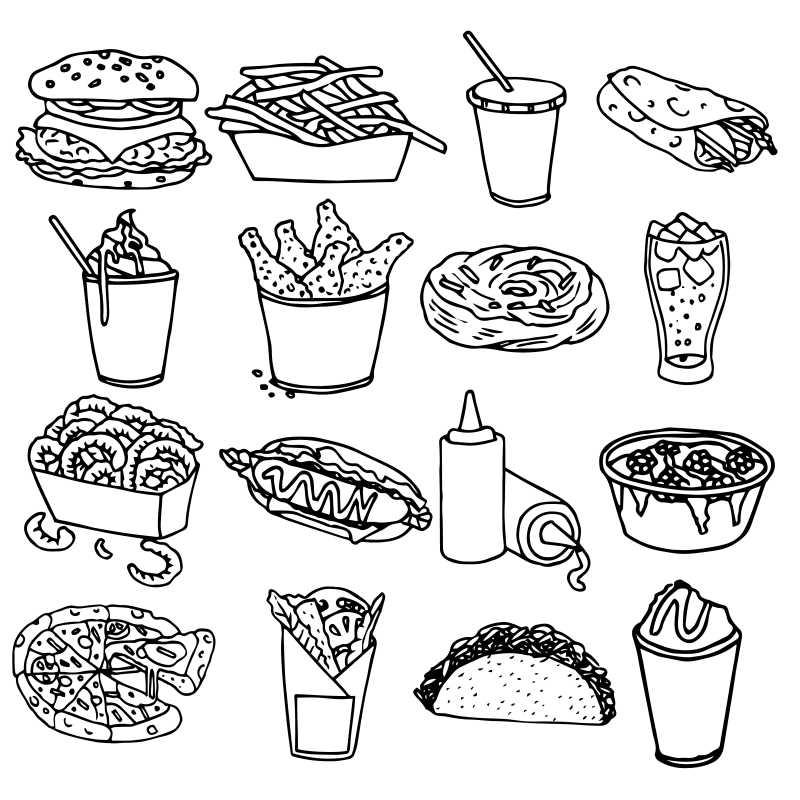 矢量的手绘汉堡插图设计图片素材_手绘矢量汉堡插图