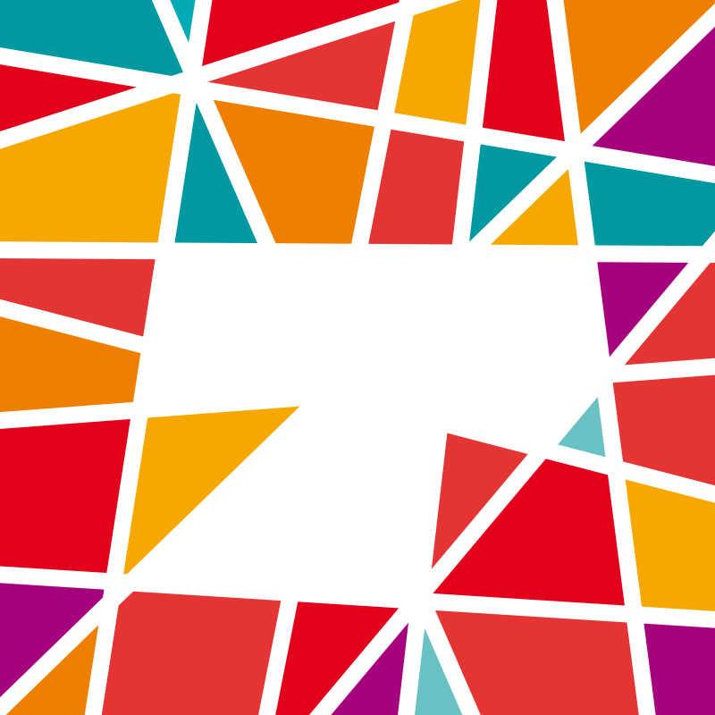 白色的几何形状商标矢量设计模板-未来软件园素材