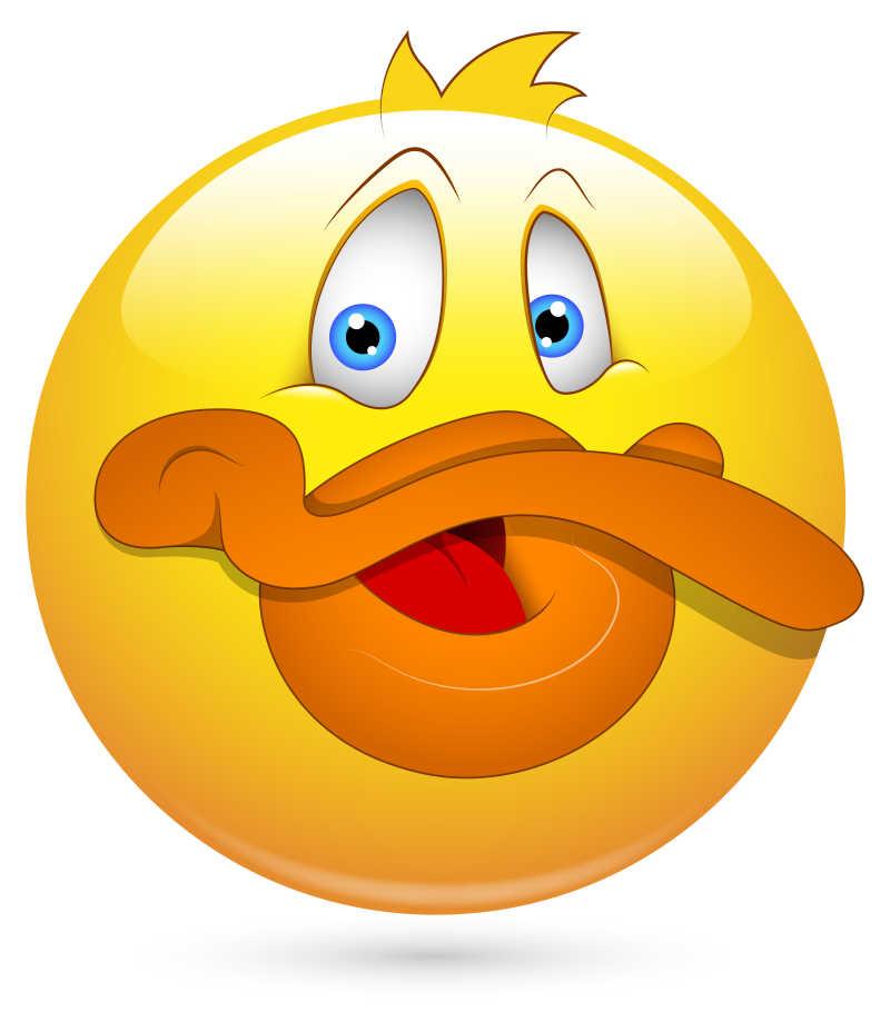 矢量鸭子嘴巴的卡通表情