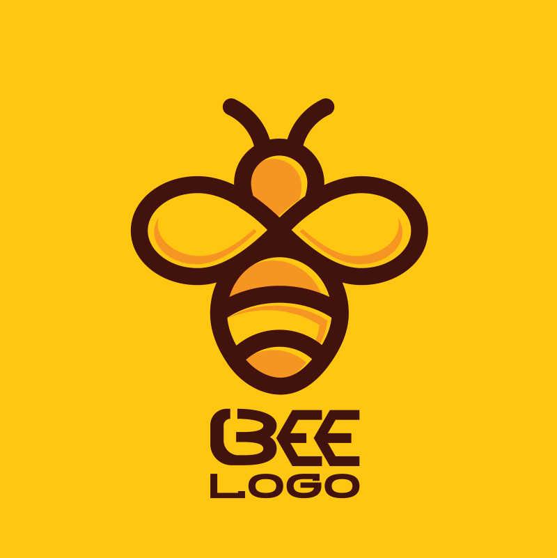 蜜蜂图案矢量蜜蜂标志设计