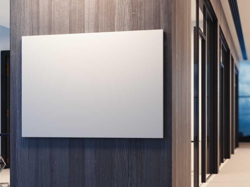 办公室内部的空白海报图片素材-主卧室创意cg-jpg格式