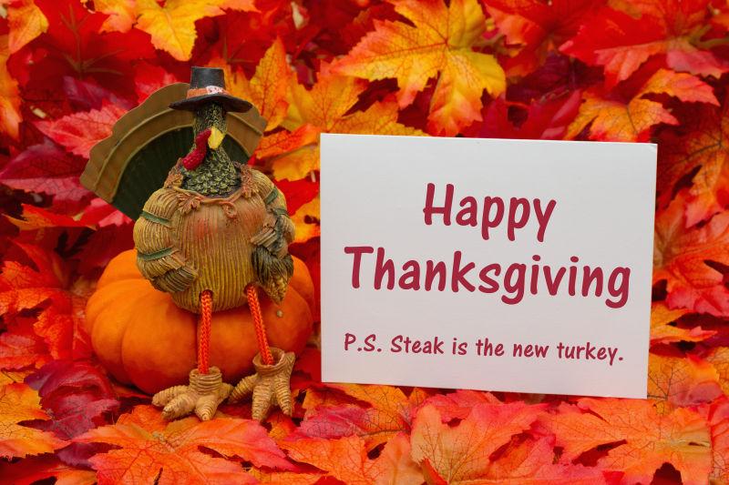 有趣的感恩节问候语卡片