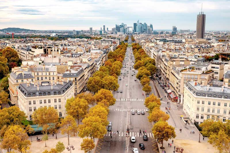 巴黎城市秋季风景