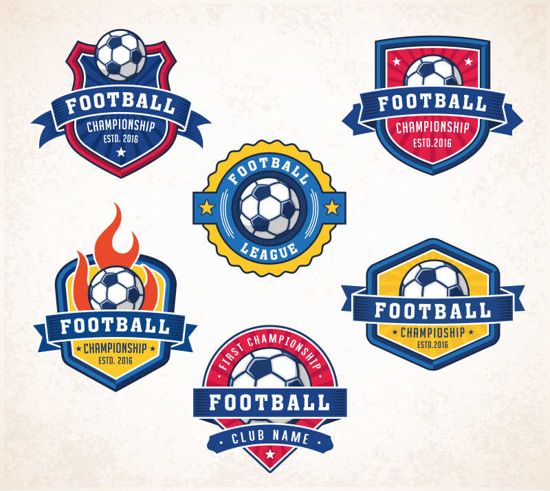 矢量足球标志设计