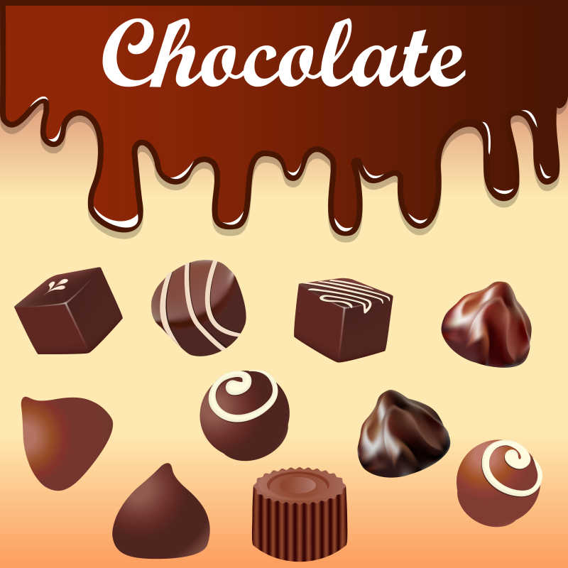 矢量巧克力背景设计
