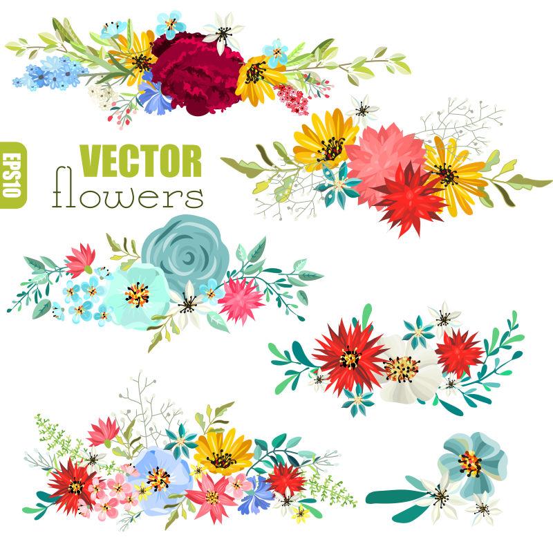 漂亮鲜花矢量设计元素