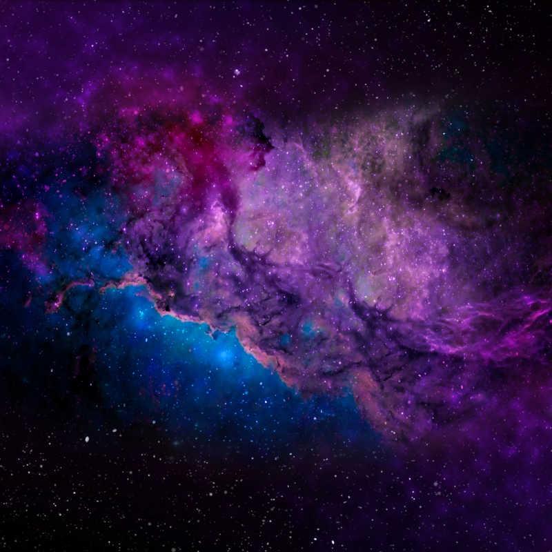 蓝紫色宇宙外太空