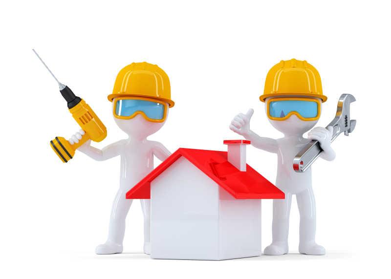 建筑工人模型图